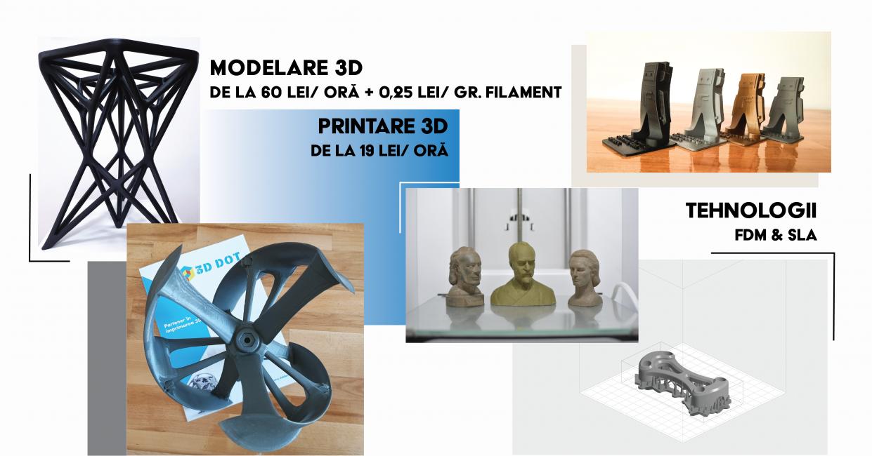Servicii modelare CAD și imprimare 3D